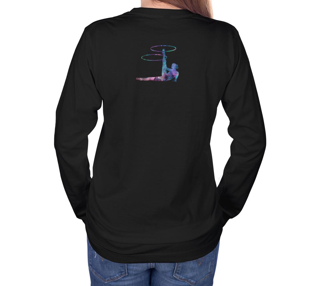 Hula Hoop Galaxy Flow Art Long Sleeve Teeshirt preview #4