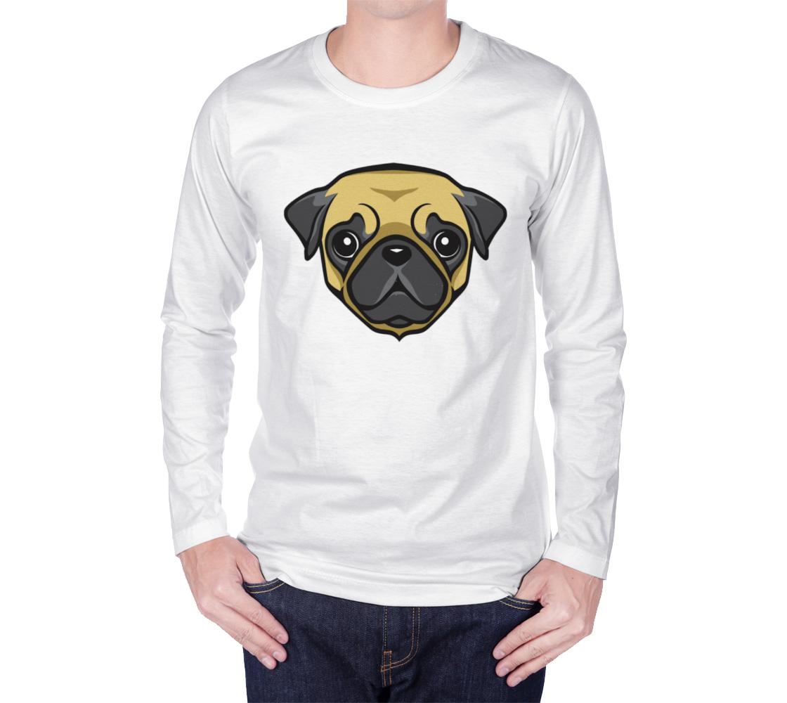 Aperçu de Adorable Pug Face Long Sleeve Shirt