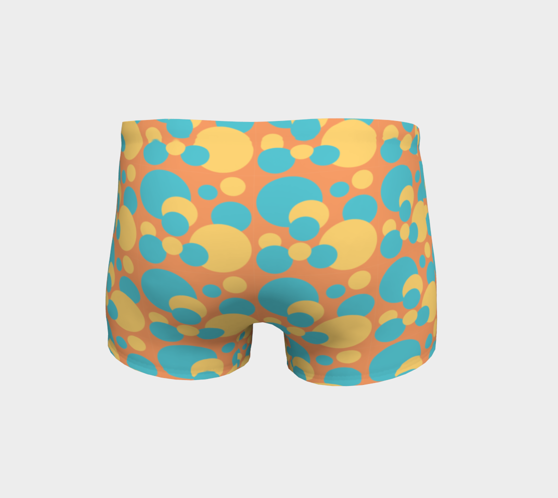 Retro Shorts in Blue and Yellow Dot Pattern preview #4