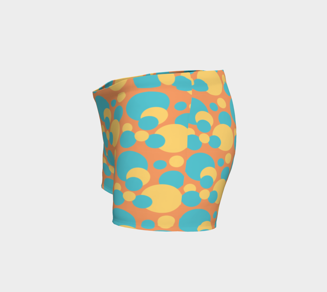 Retro Shorts in Blue and Yellow Dot Pattern preview #2