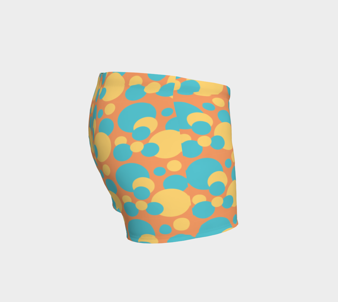 Retro Shorts in Blue and Yellow Dot Pattern preview #3
