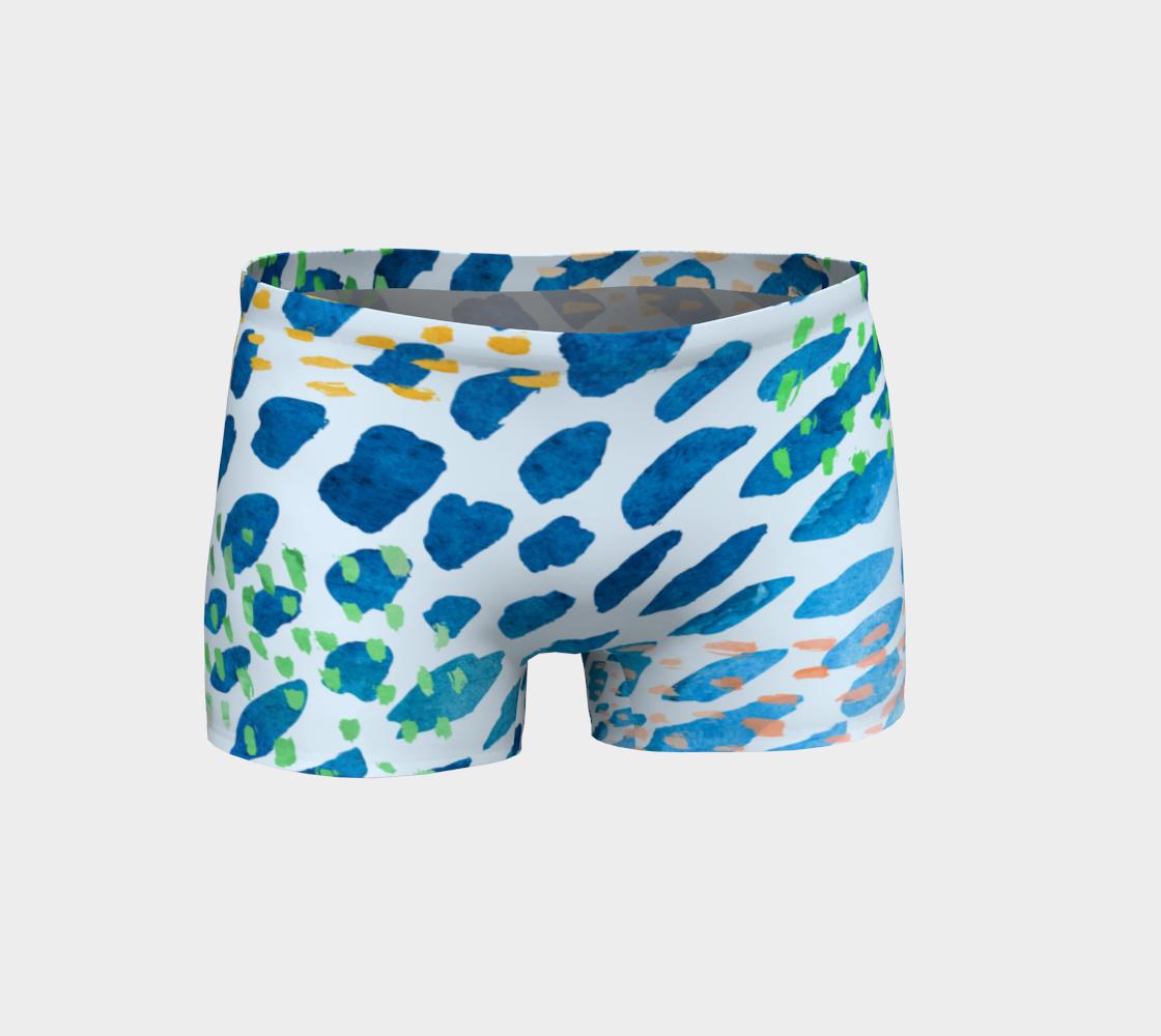 Aperçu de Under The Sea Watercolor Abstract Shorts