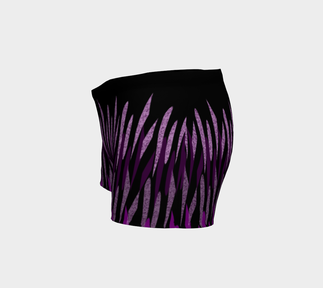 Purple Ice Abstract Shorts preview #2