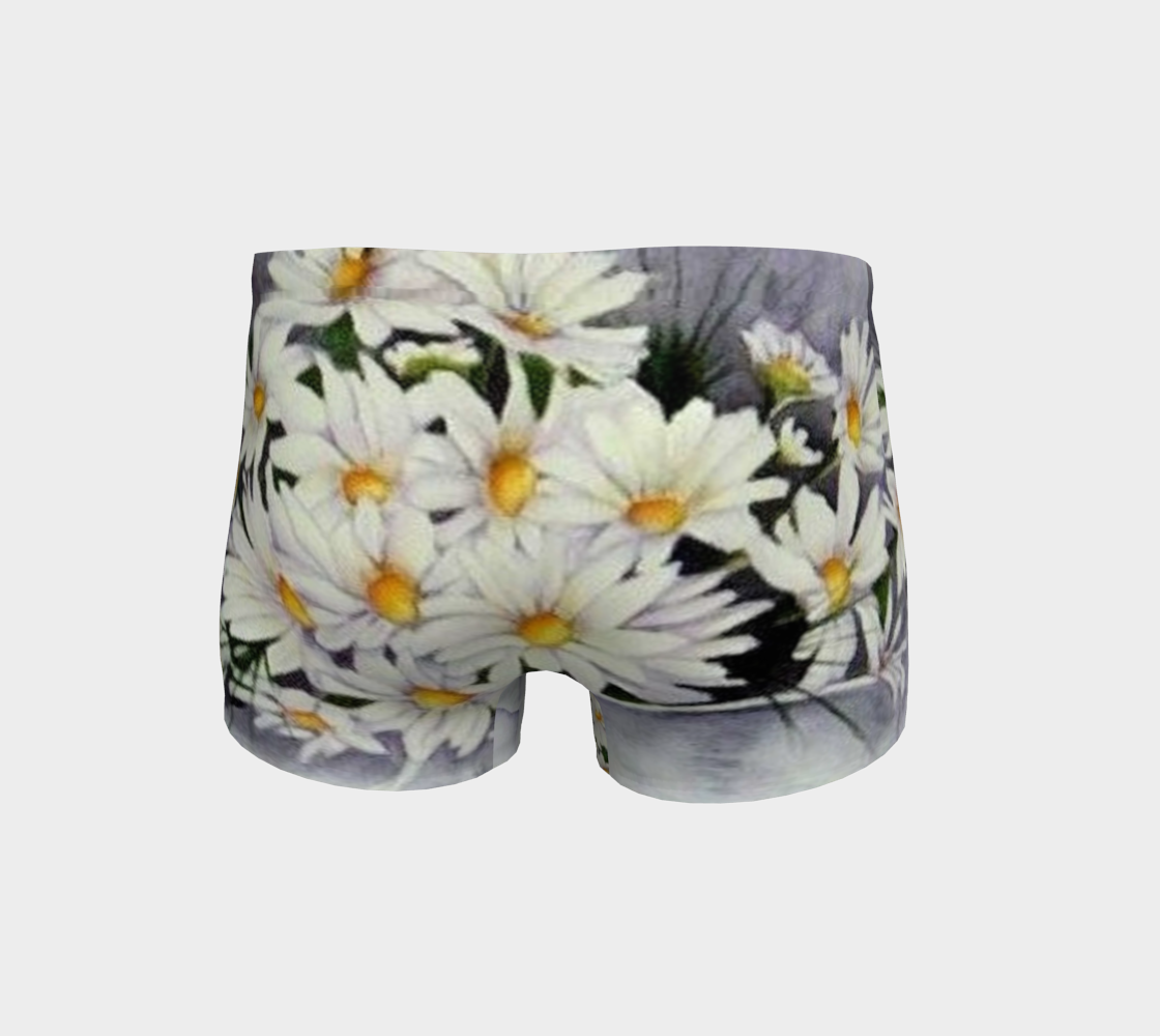 White Daisy Bouquet Shorts preview #4