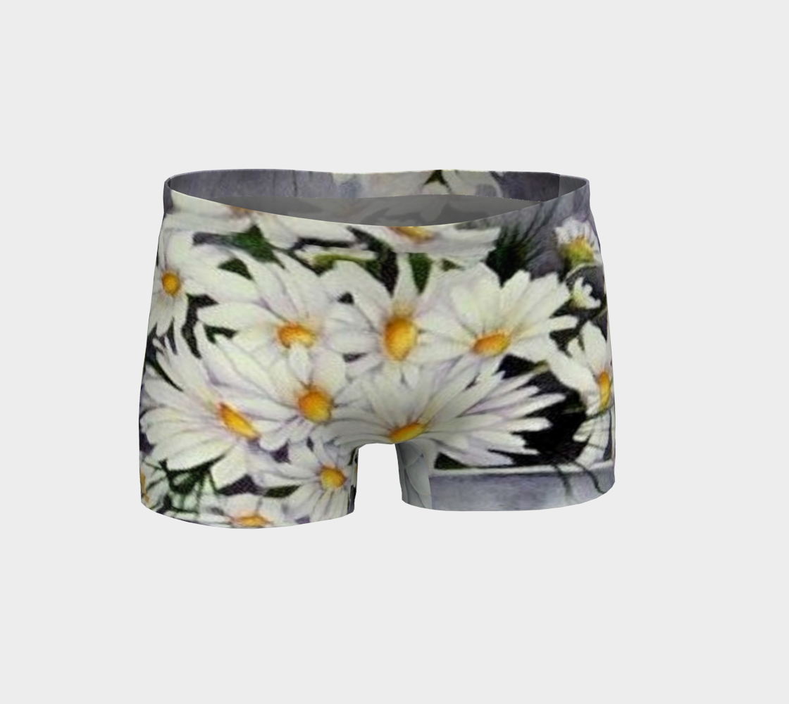 White Daisy Bouquet Shorts preview