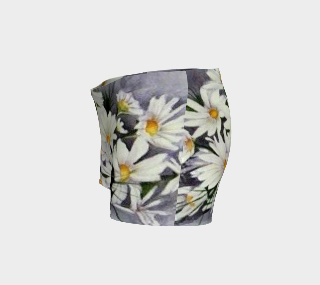 White Daisy Bouquet Shorts preview #2