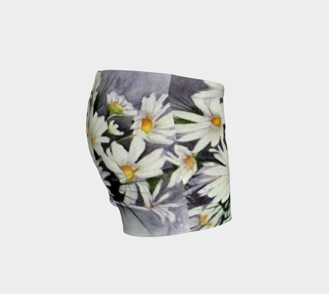 White Daisy Bouquet Shorts preview #3