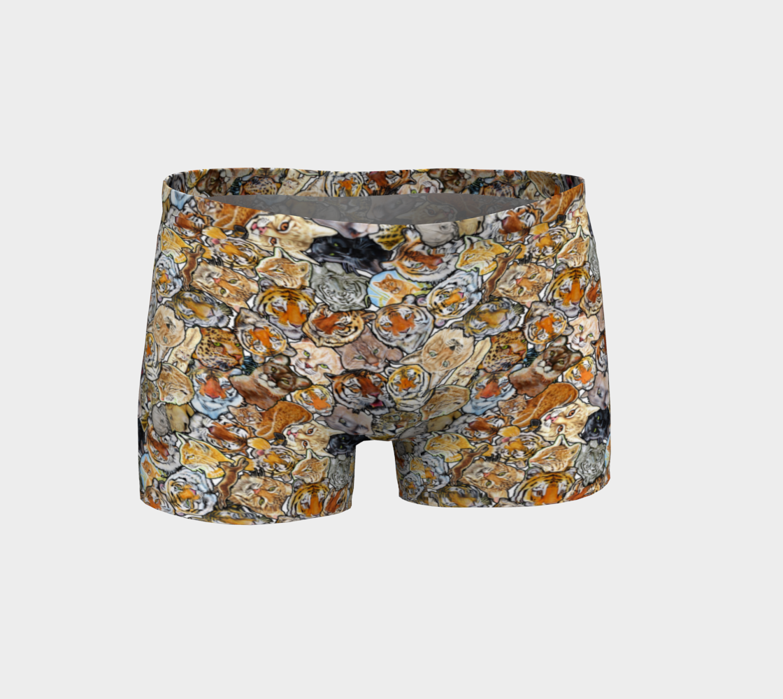 Big Cat Collage - shorts preview