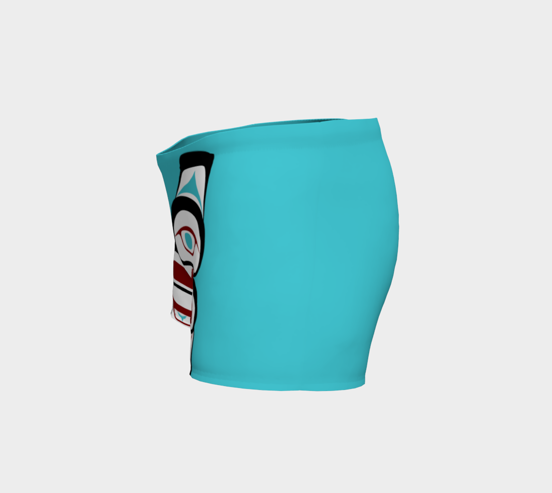 Formline Owl Sport Shorts Pacific Northwest Native American Design  preview #2