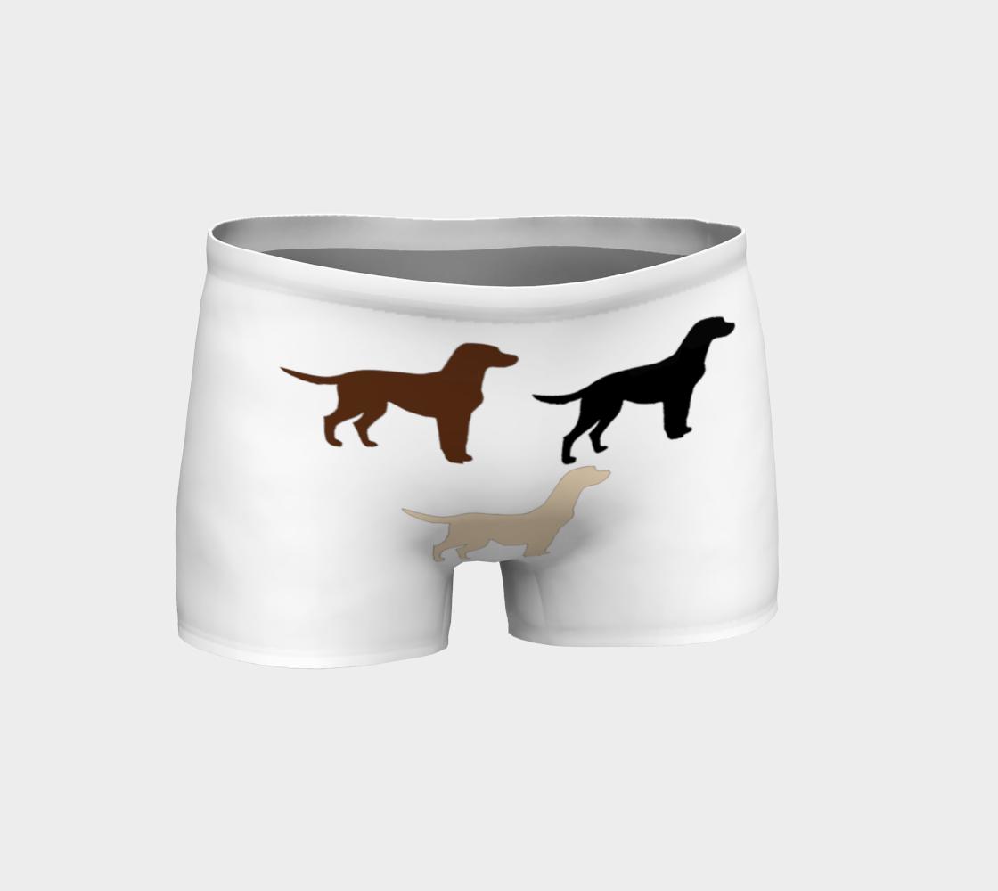 Labrador Retriever all 3 colors silhouettes shorts preview