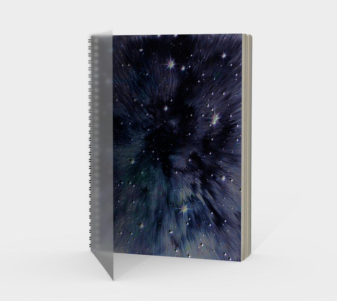 """Spaced-Out"" Galaxy Star Space Universe Notebook by VCD © preview"