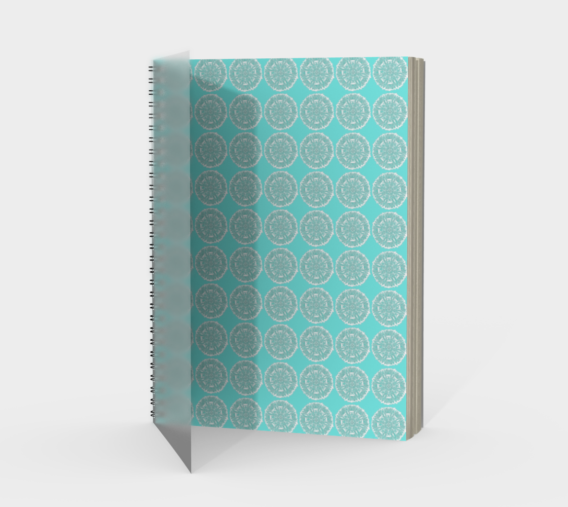 Blue and White Mandala Circles Spiral Notebook preview