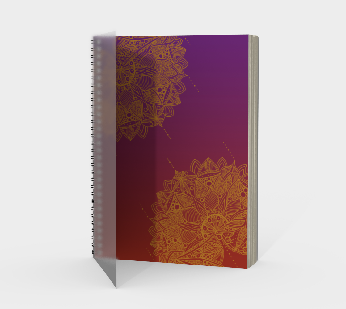Red and Purple Mandala Pattern Spiral Notebook preview