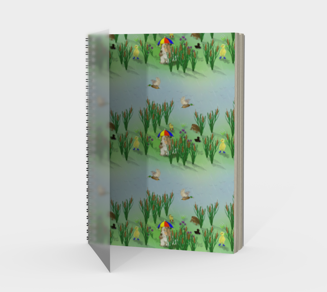 Lovely Weather For Ducks Spiral Notebook preview