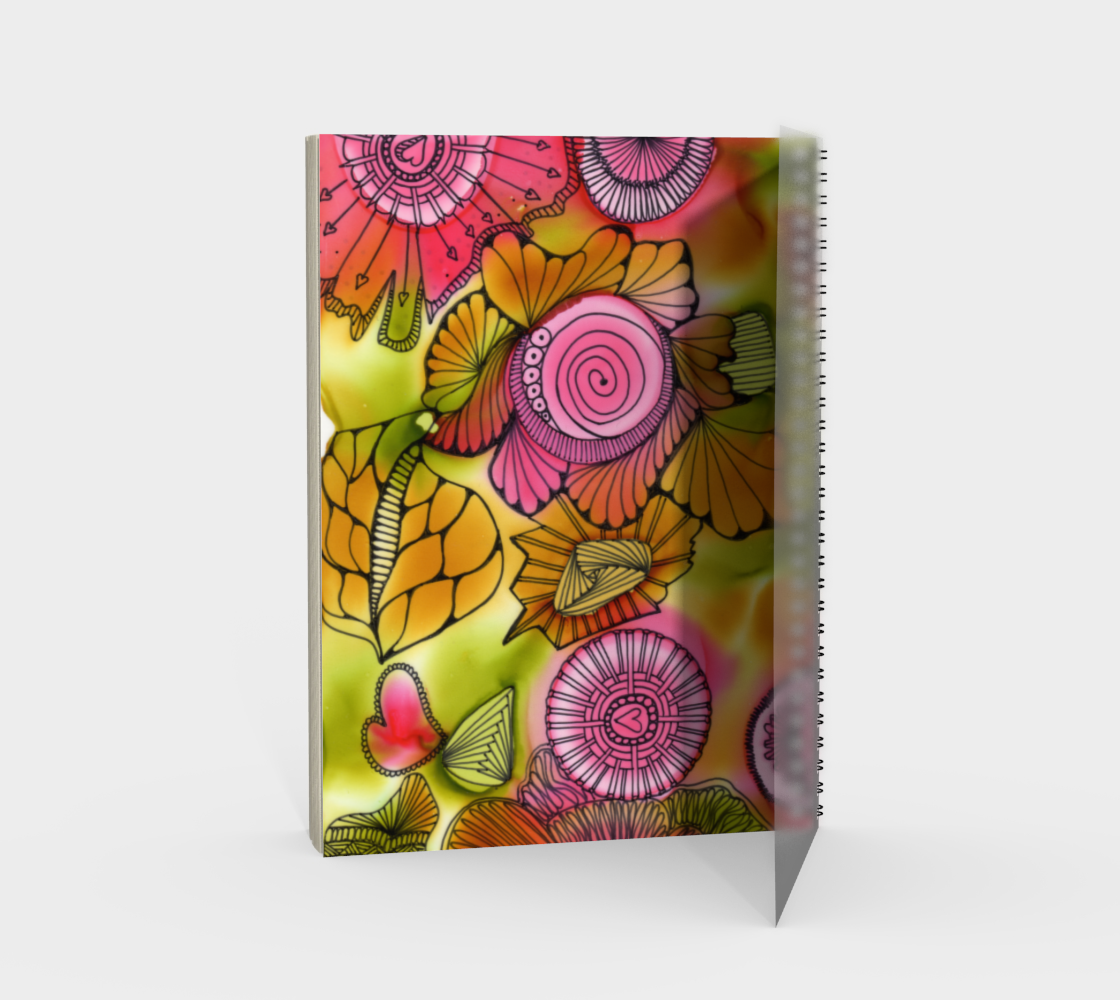 Pink Swirl Note Book preview #2