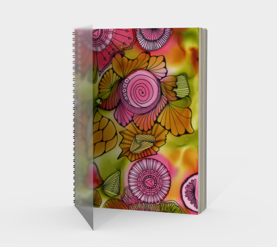 Pink Swirl Note Book preview
