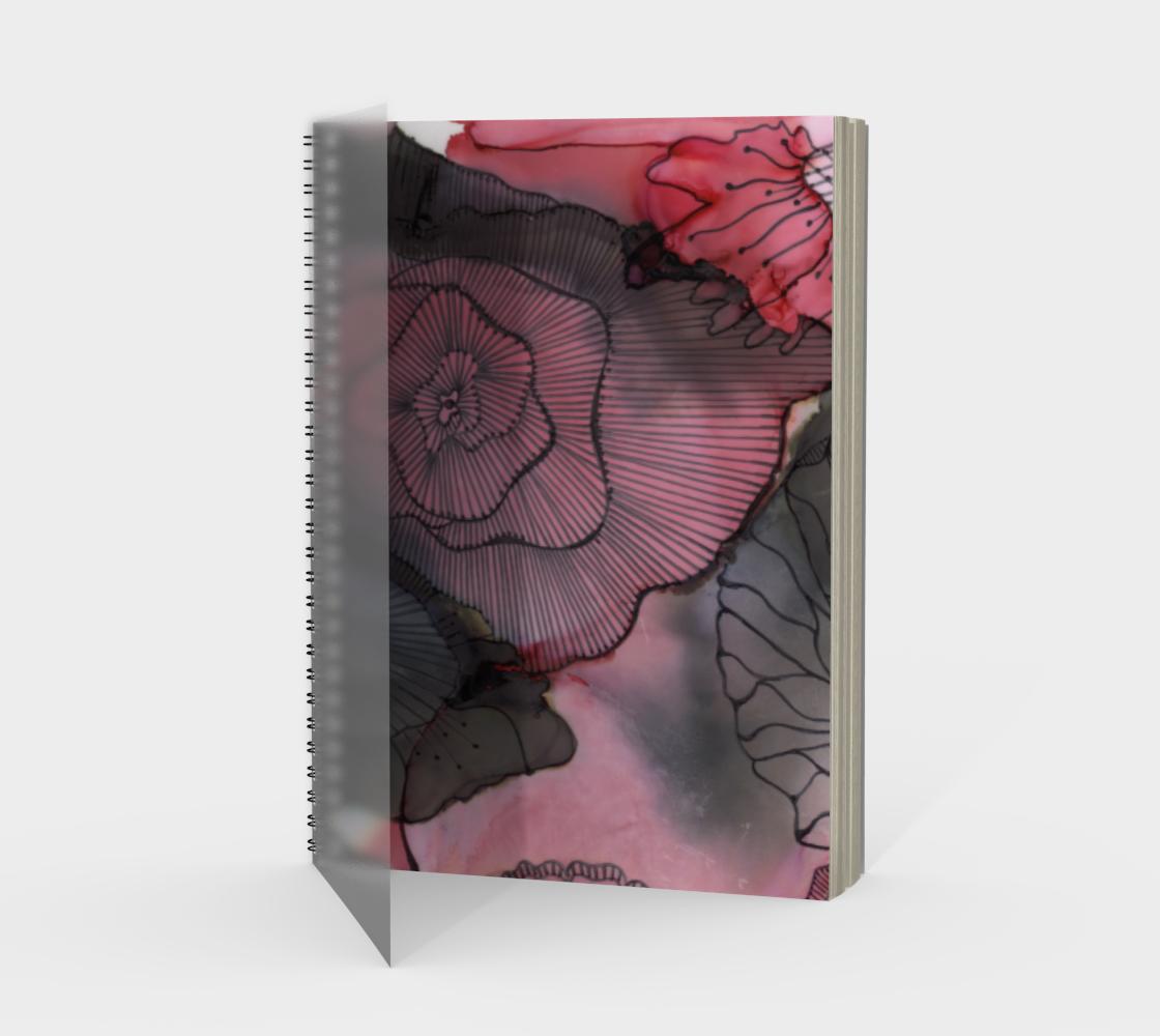 Aperçu de Black RedBerry Spiral Notebook, Portrait