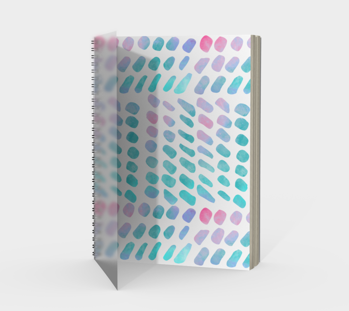 Pink and Blue Cotton Candy Spiral Notebook preview