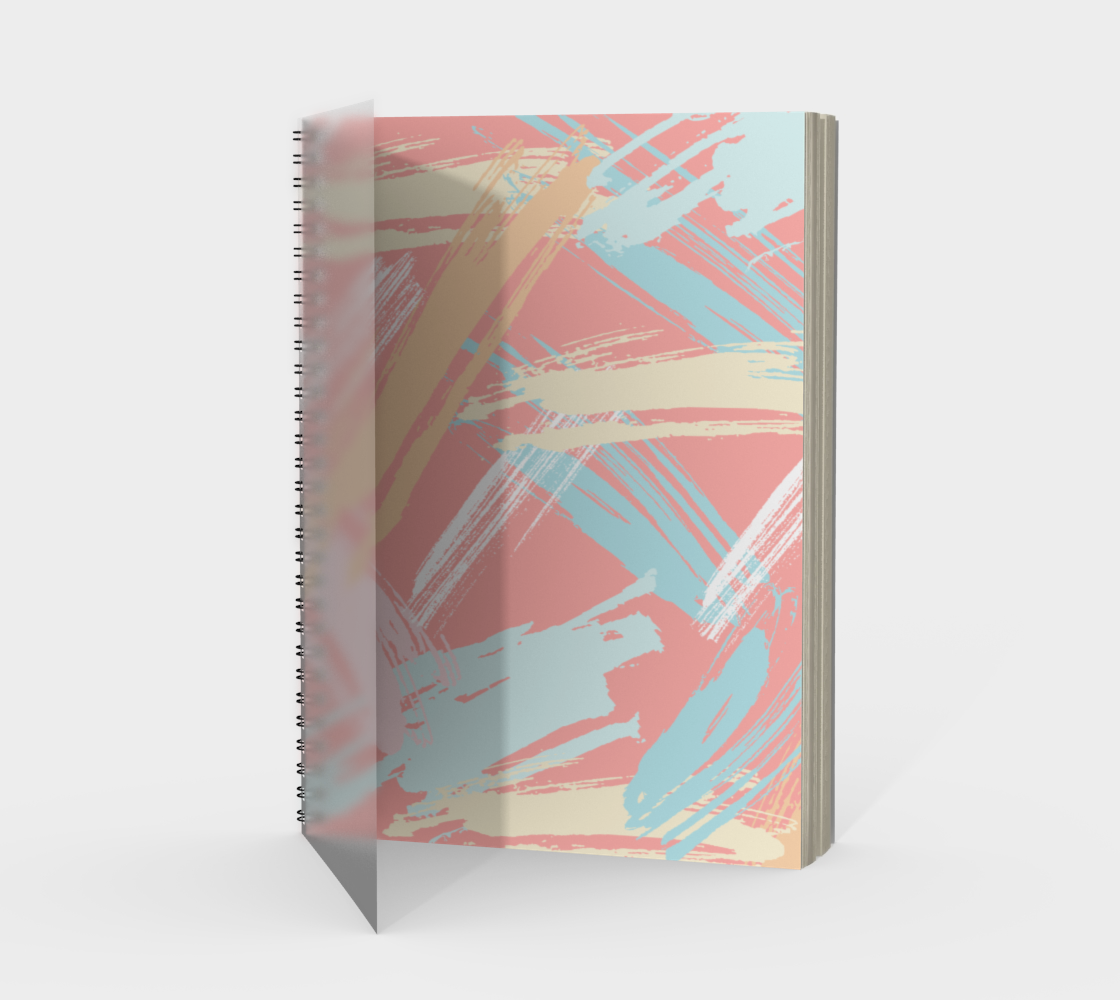 Pastel Abstract Brush Stroke Spiral Notebook preview
