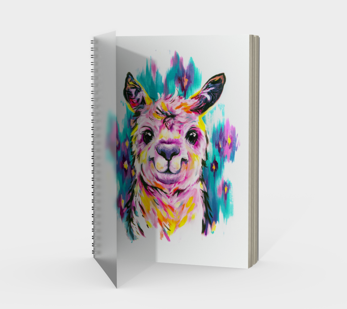 Alpaca Spiral Notebook preview