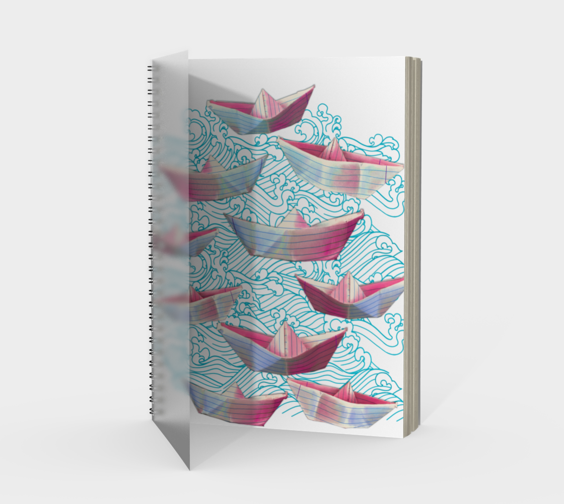 Blue waves and paper boats Spiral preview