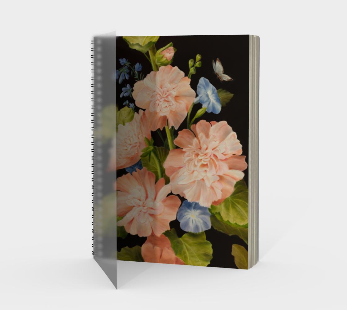 Hollyhocks Spiral Notebook preview