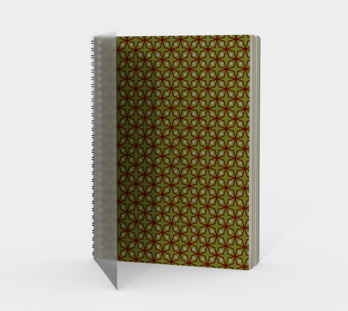Dark Red and Green Geometric Pattern preview