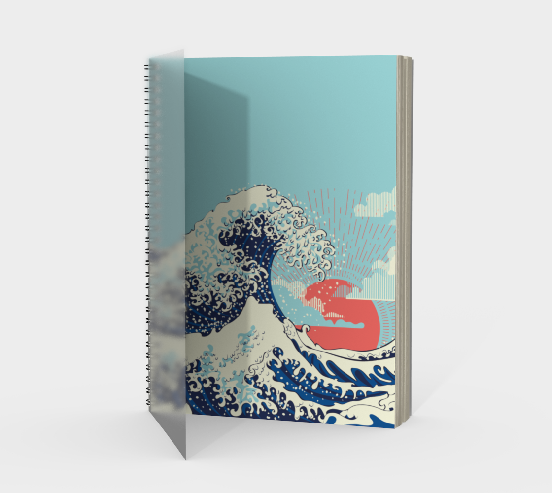 The Great Wave off Kanagawa stormy ocean with big waves preview