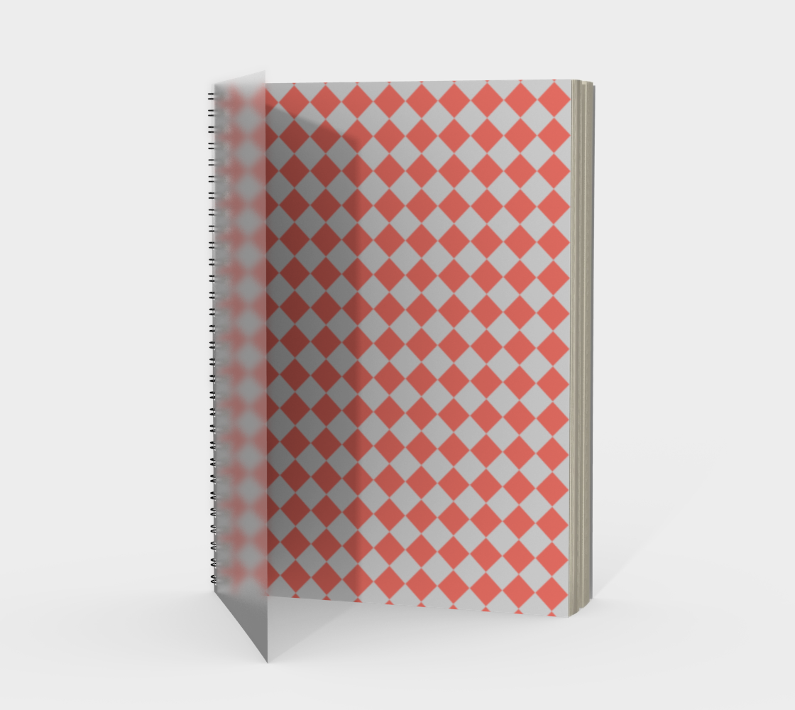 Coral Square Geometric Pattern preview