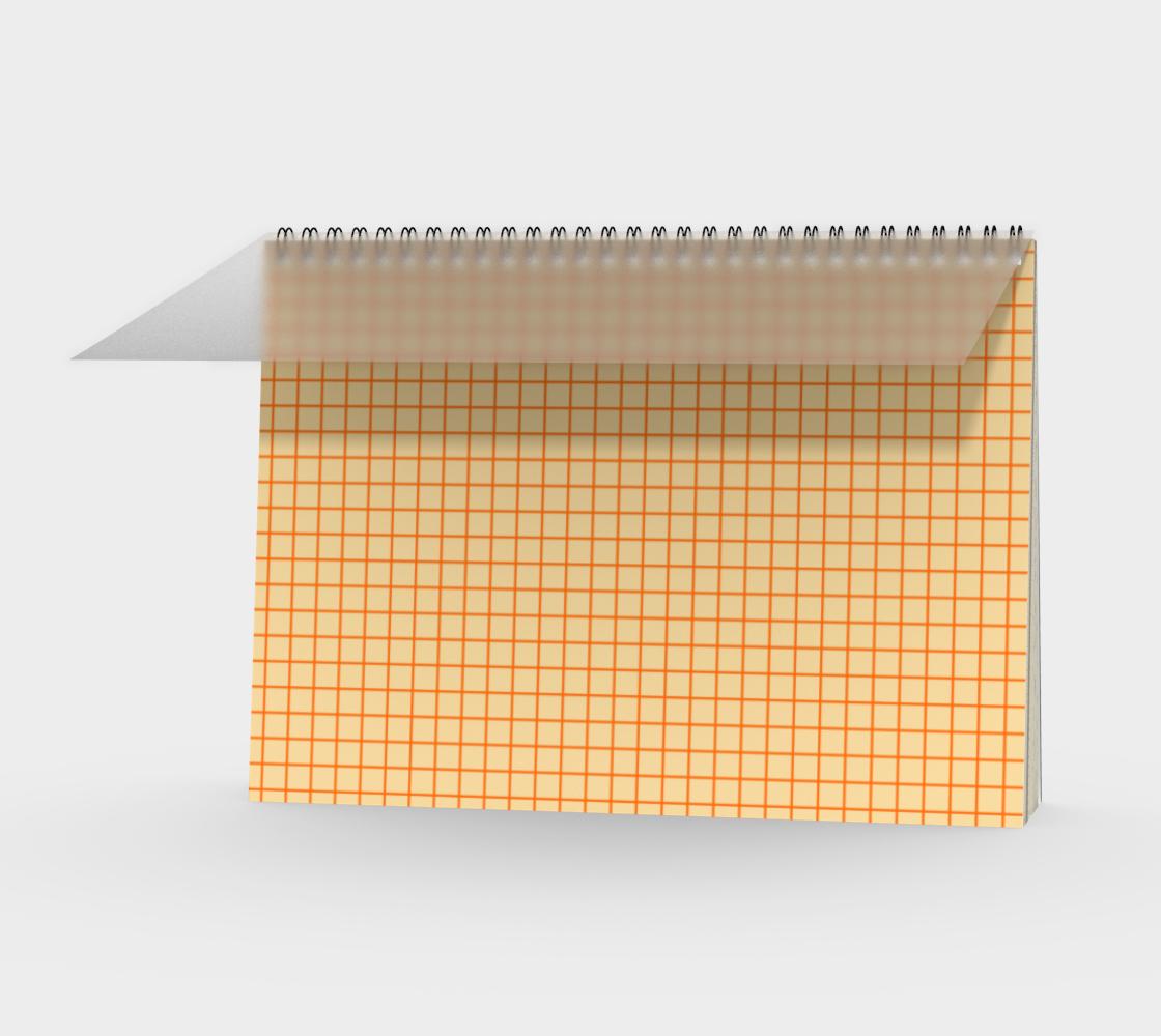 PLAID SERIES Small grid orange pattern aperçu