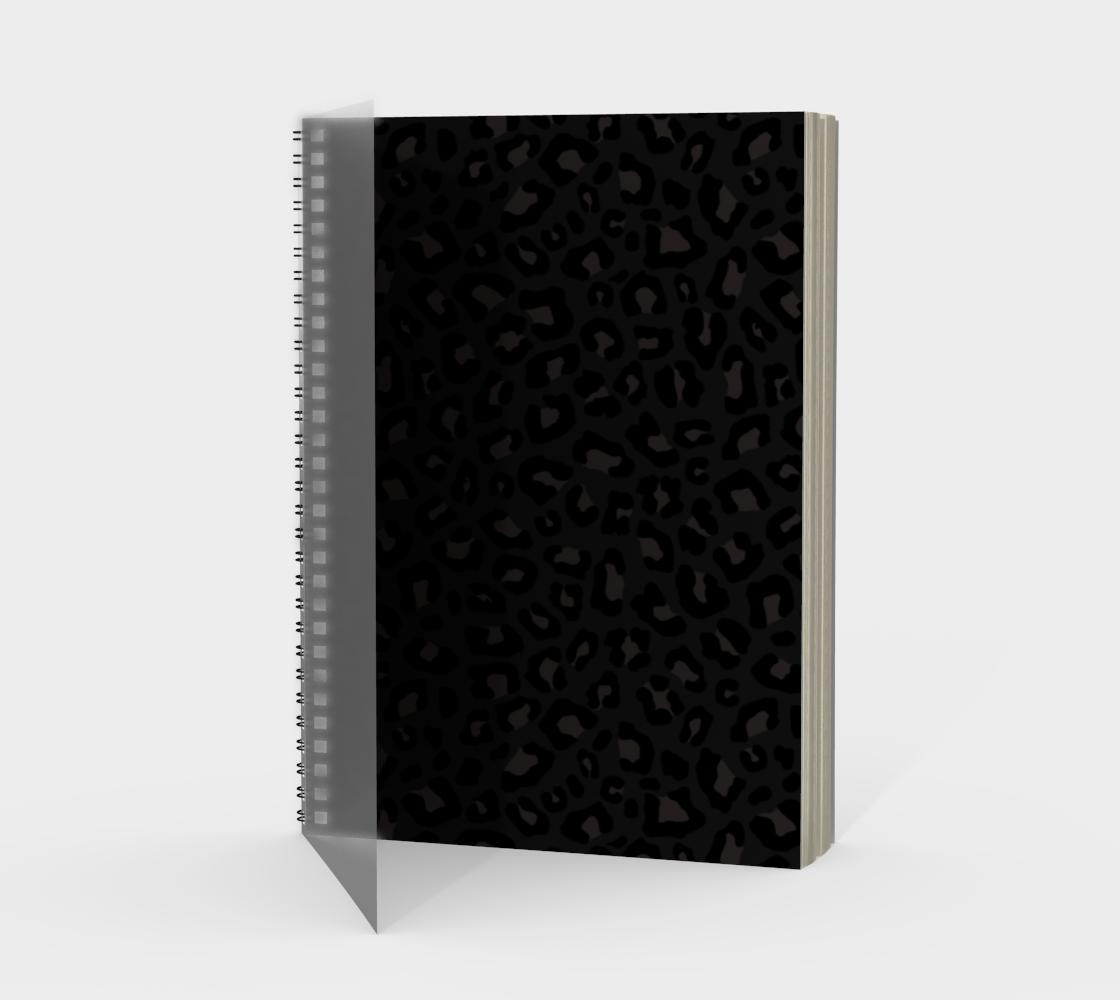 Leopard Print 2.0 - Black Panther Spiral Notebook aperçu