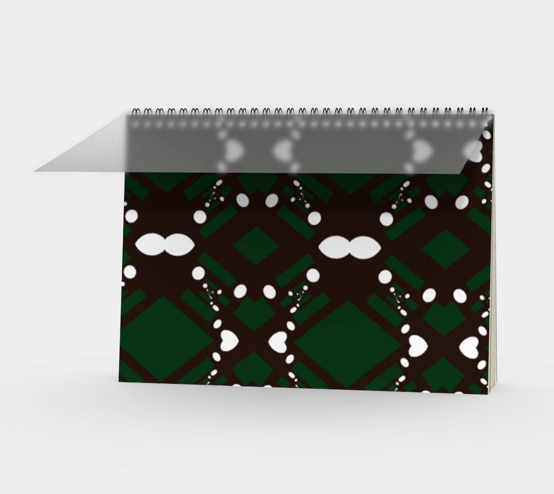 Listy green and black dark print aperçu