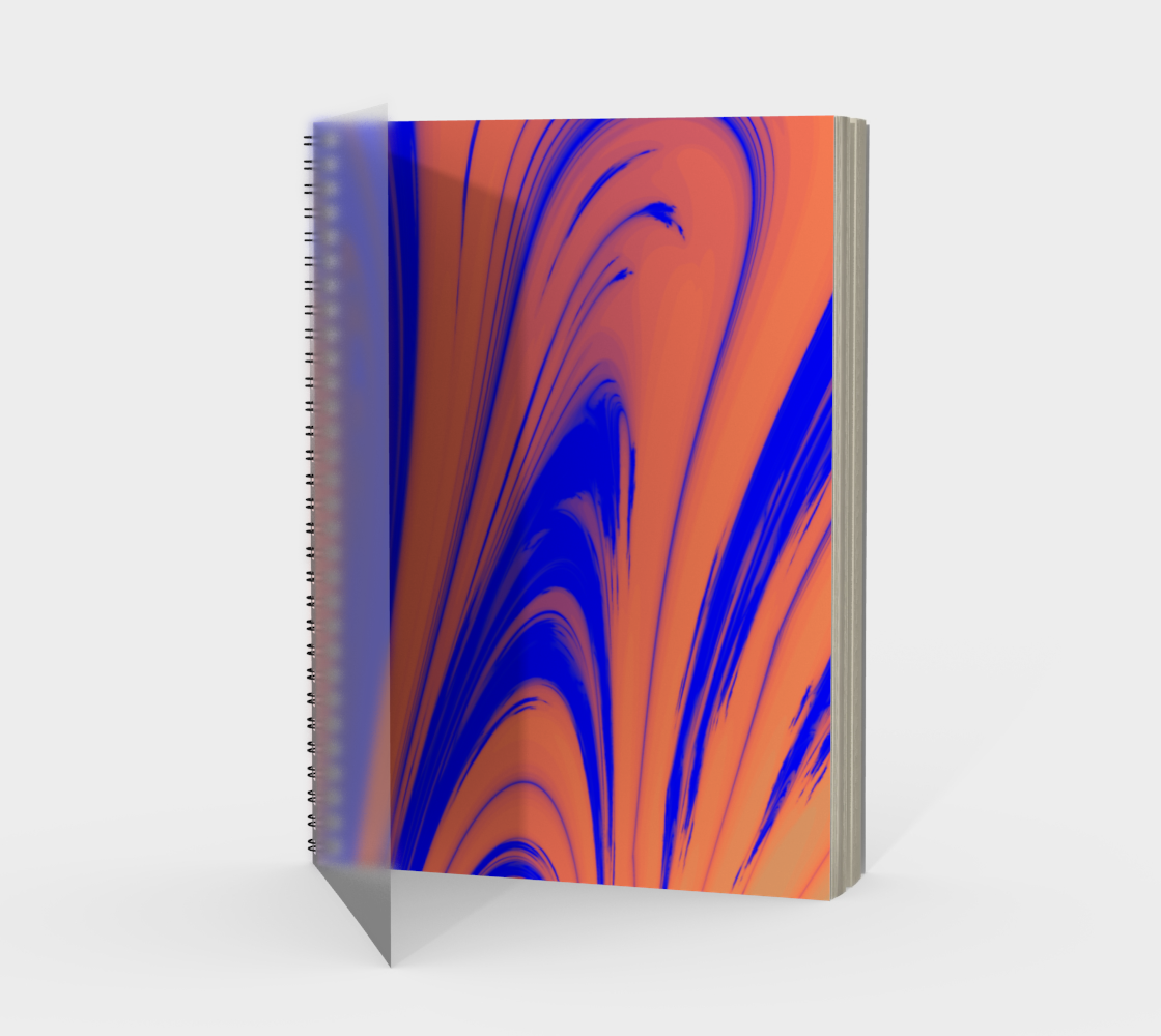 Orange and Blue Loopy Curves preview