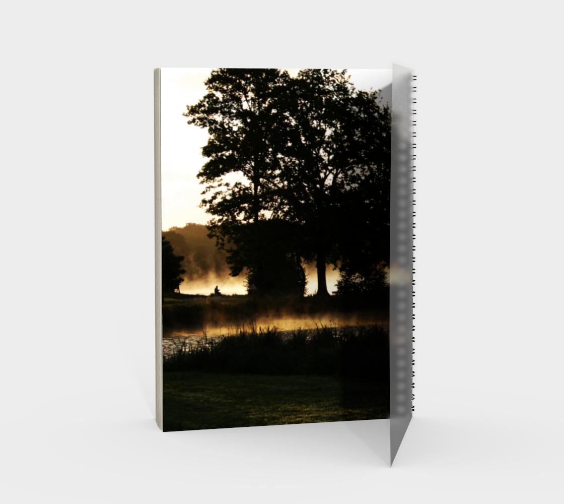 Morning Lake Scene Spiral Notebook preview #2