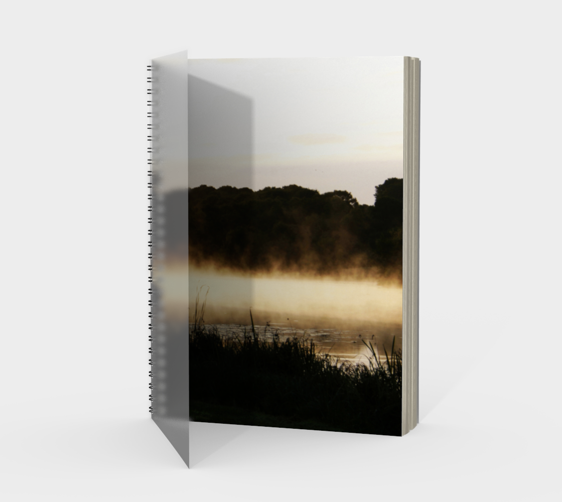 Morning Lake Scene Spiral Notebook preview