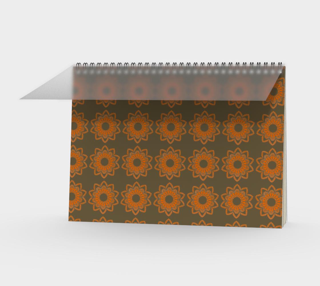 Orange Mandala on Khaki Green preview
