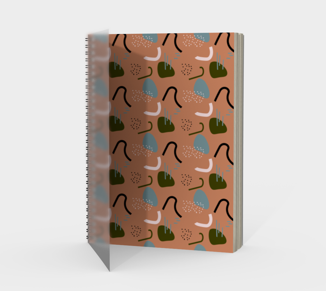 Organic Shapes on Beige Background preview