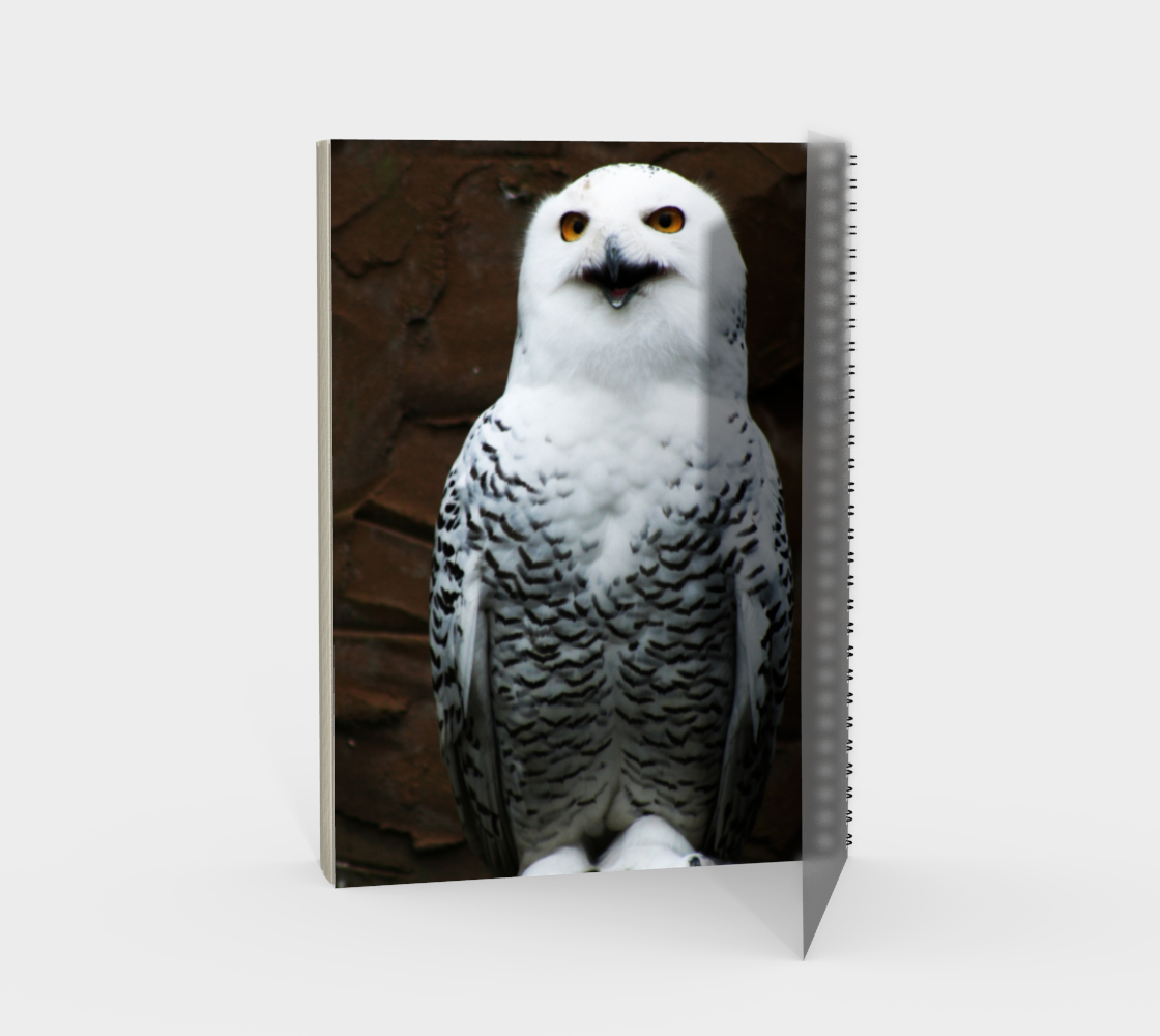 Snowy Owl Spiral Notebook preview #2
