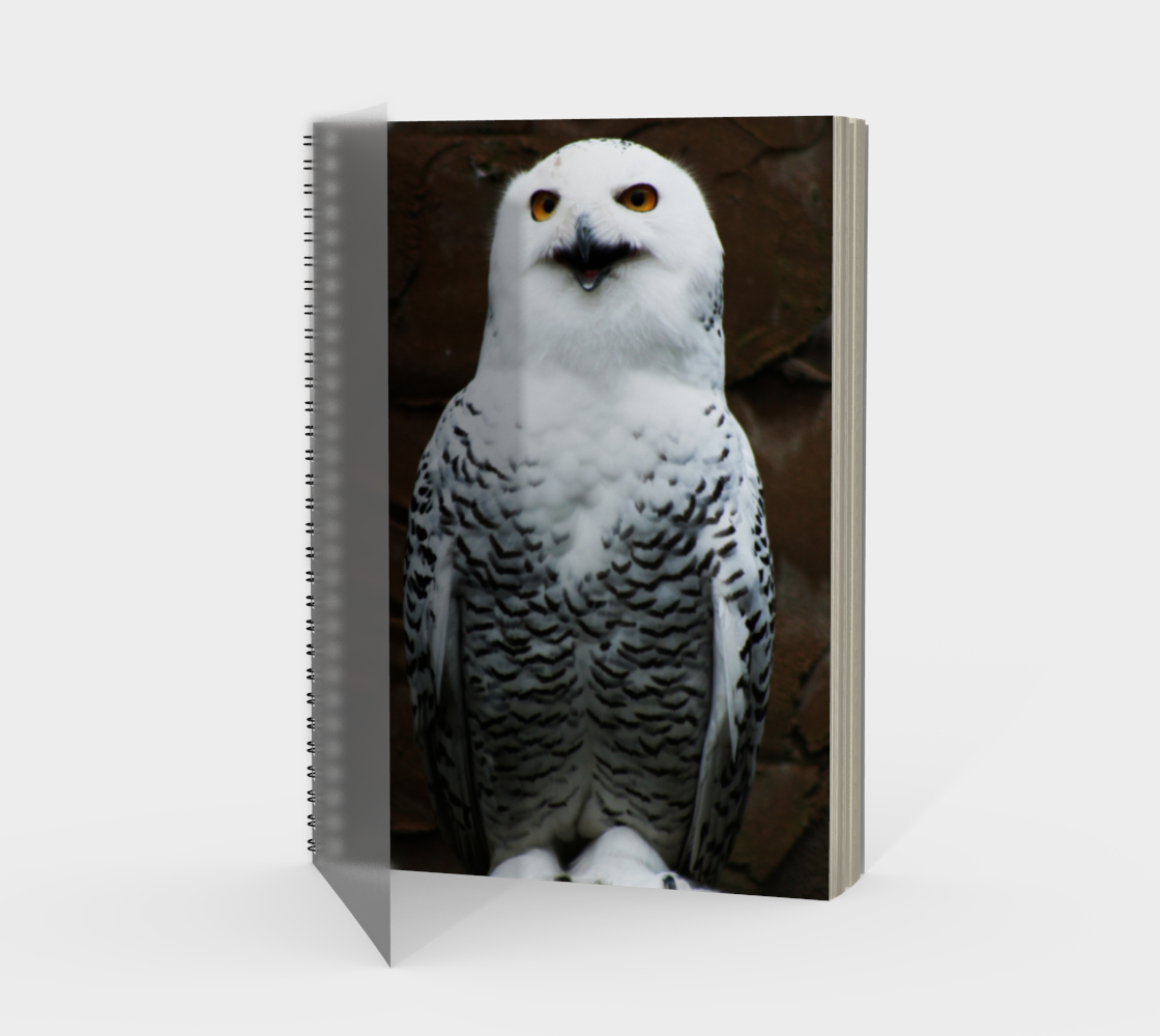Snowy Owl Spiral Notebook preview