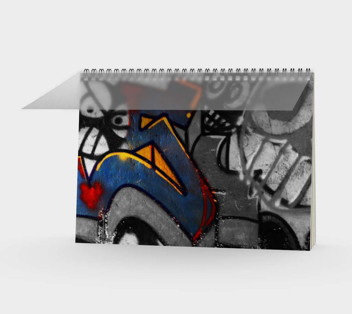 Graffiti 1 Spiral Notebook preview