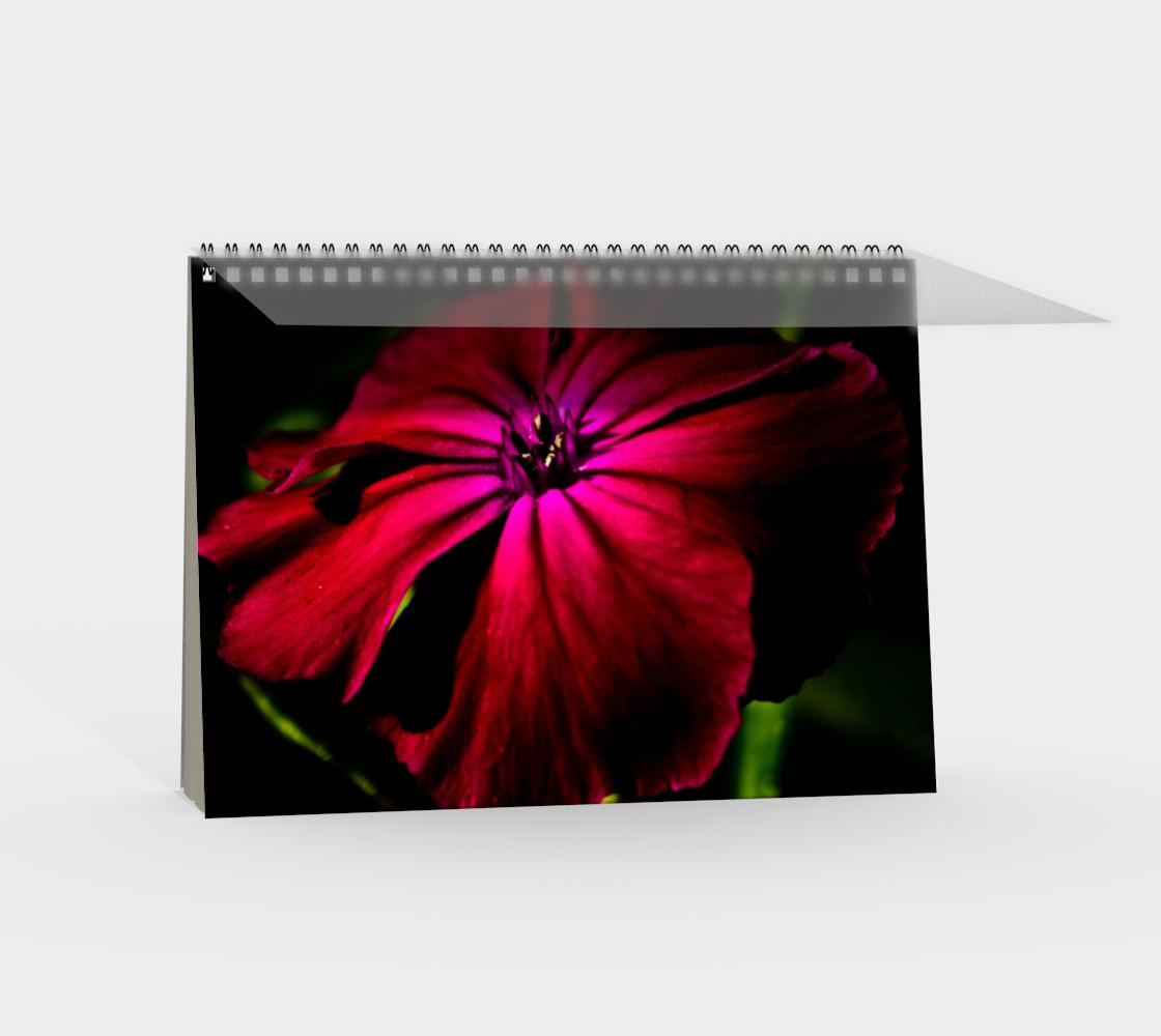 Purple Wild Flower Spiral Notebook preview #2
