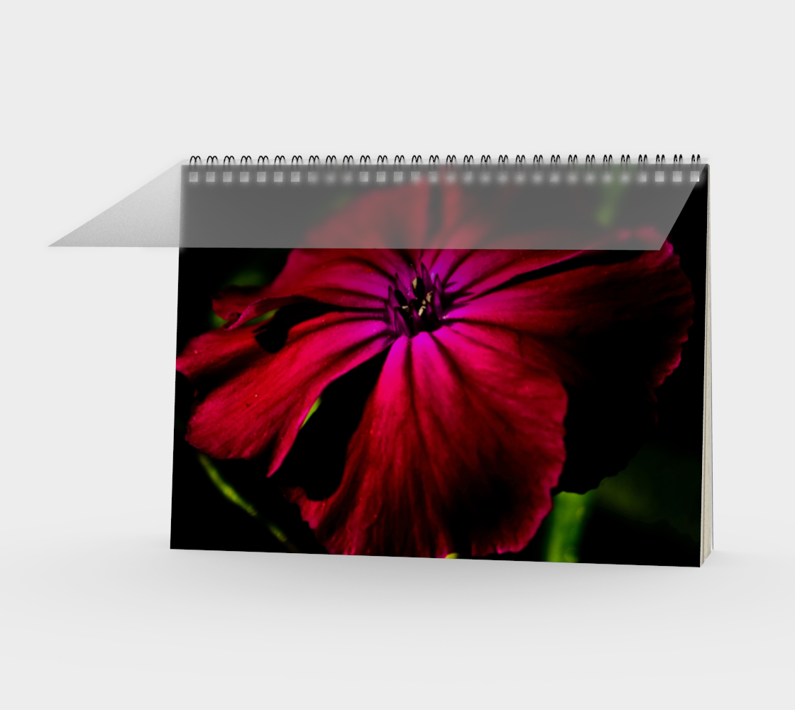 Purple Wild Flower Spiral Notebook preview