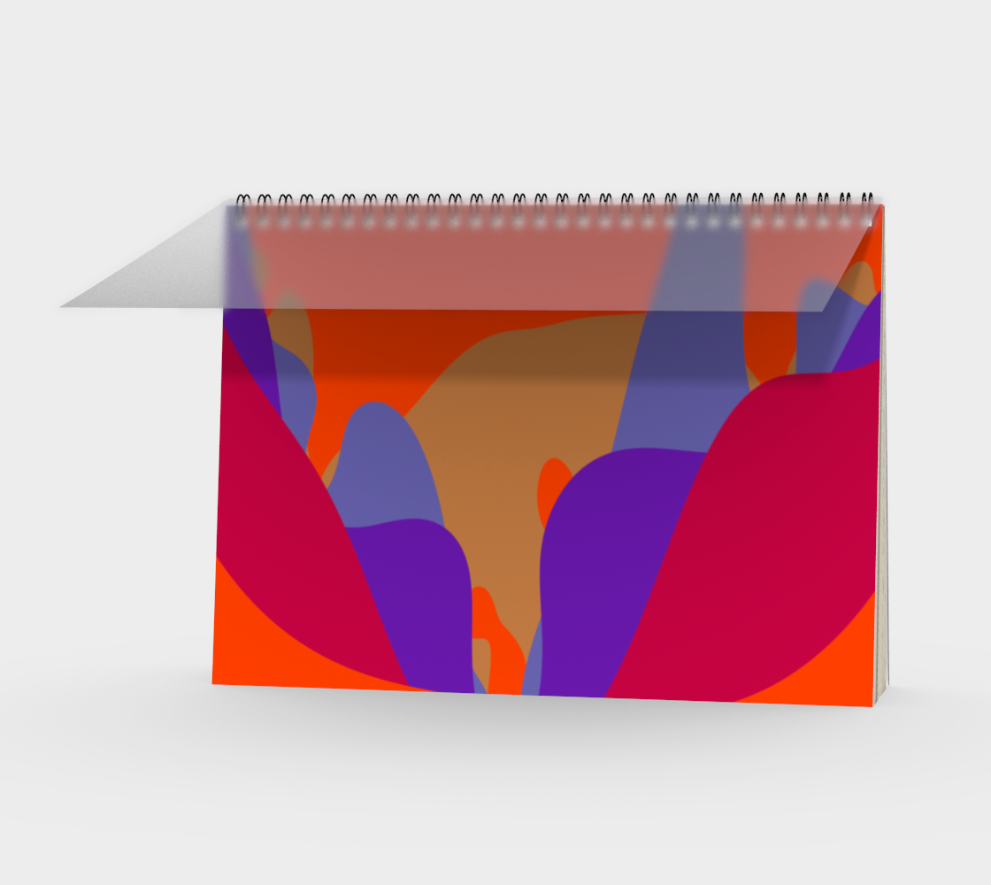 Abstract Flower in Orange and Purples preview
