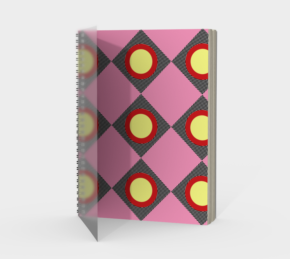 Pink Checks with Red and Yellow  preview