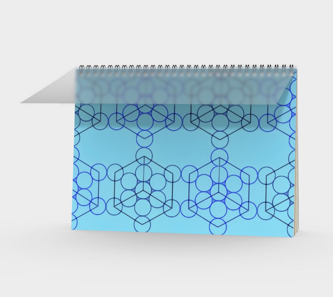 Geometric Tiling Blue Spiral Notebook Landscape preview