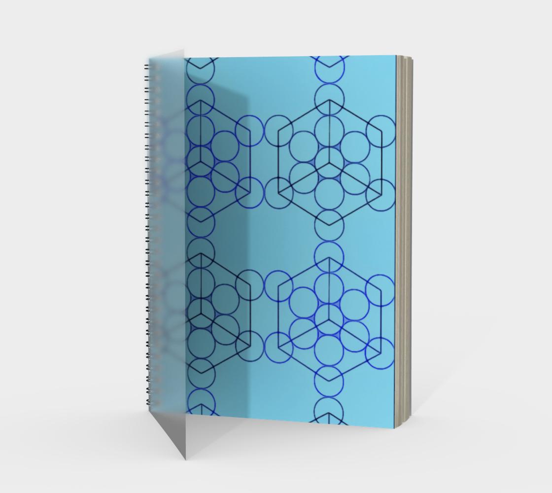 Geometric Tiling Blue Spiral Notebook Portrait preview