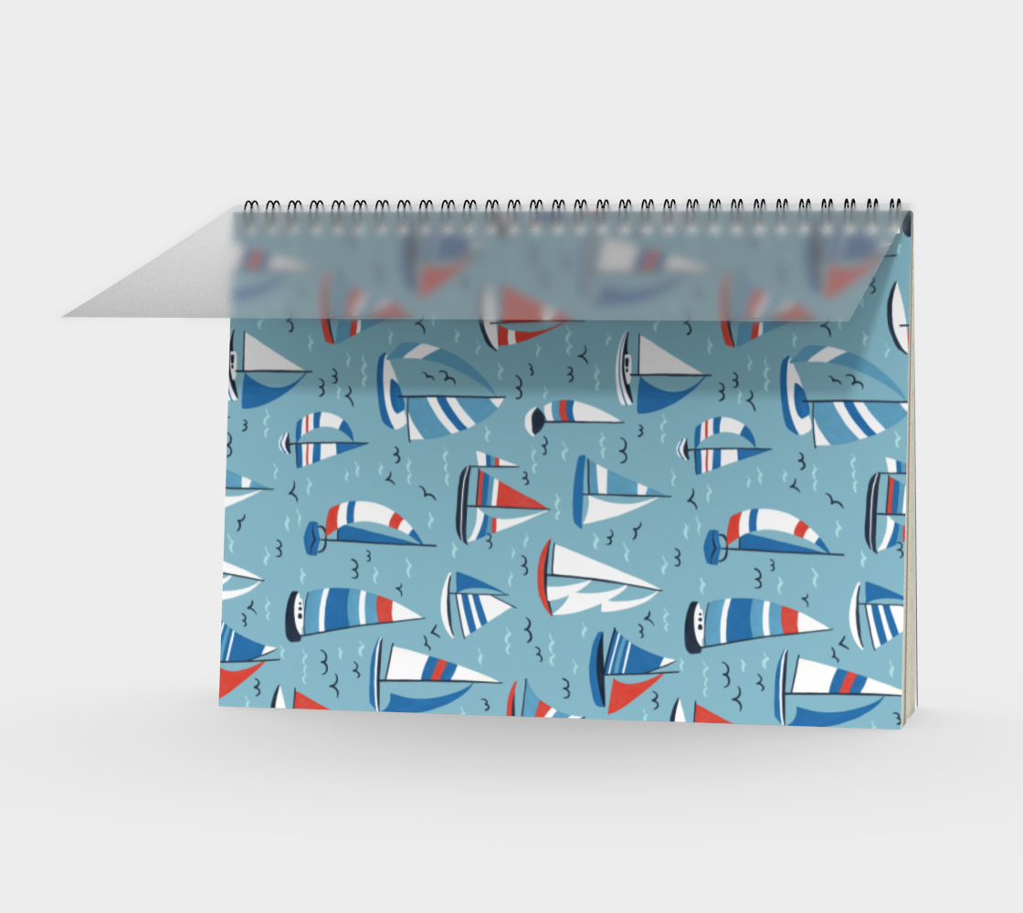 Aperçu de Sailboats - Spiral Notebook