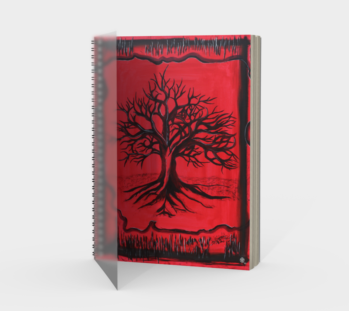 The Red Tree Spiral Notebook/Sketchbook preview