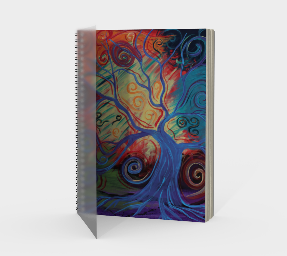 Tree of a Colourful Life Spiral Notebook/Sketchbook preview