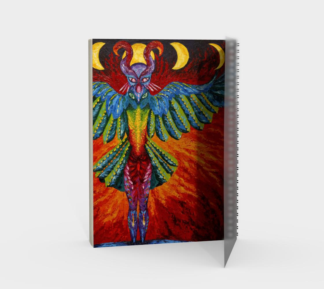 Raven Goddess spiral notebook preview #2
